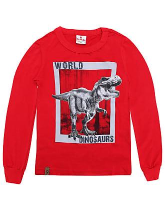 Brandili Camiseta Brandili Menino Dinossauro Vermelha