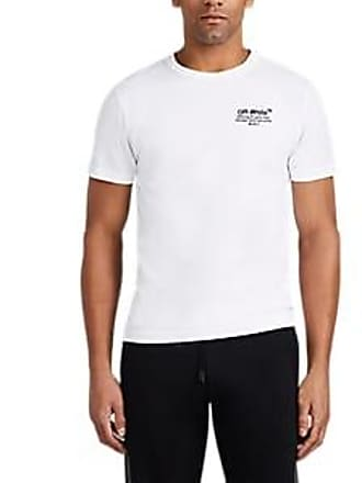 Off-white Off - White c/o Virgil Abloh Mens Logo-Embroidered Cotton T-Shirt - White Size XS