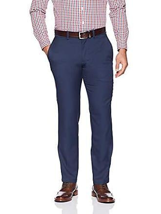Haggar Mens Cool 18 Pro Slim Fit Flat Front Superflex Waistband Pant, Medium Heather Blue, 36Wx29L