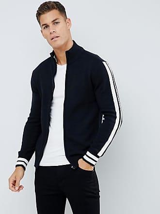Another Influence Arm Stripe Zip through Sweater - Black