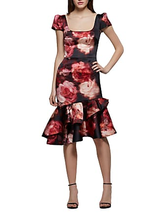 cb787c0c6b4f David Meister Rose-Print Fit-and-Flare Cocktail Dress