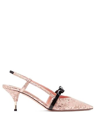 Rochas Floral Brocade Slingback Pumps - Womens - Pink
