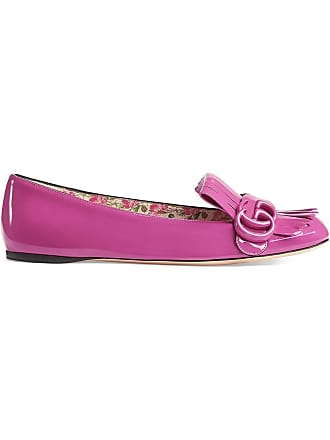 Gucci Patent Leather Flat Ballet Shoes - Rose 2891916562f