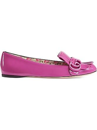 Gucci Patent Leather Flat Ballet Shoes - Rose 4690e3a437ba