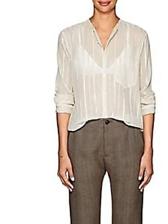 Pas de Calais Womens Striped Cotton-Silk Gauze Blouse Size 34 FR 80d0845ed