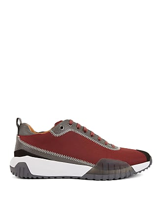 BOSS Hugo Boss Low-top sneakers in nylon leather details 8 Dark Red