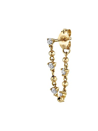 The Last Line Diamond Stud And Sphere Chain Earring