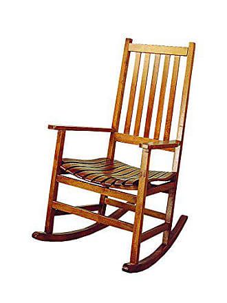 Coaster Fine Furniture Wood Rocker Arm Chair Warm Brown