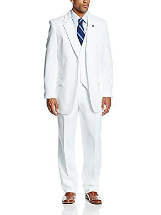 Stacy Adams Stacy Adams Mens Big-Tall Suny Vested 3 Piece Suit, White, 56 Regular
