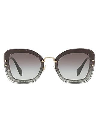33c29c4c2677c Miu Miu Eyewear Óculos de sol retangular - Ues0a7cinza