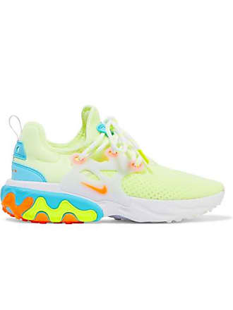 Nike React Presto Neon Suede And Rubber-trimmed Mesh Sneakers - Yellow
