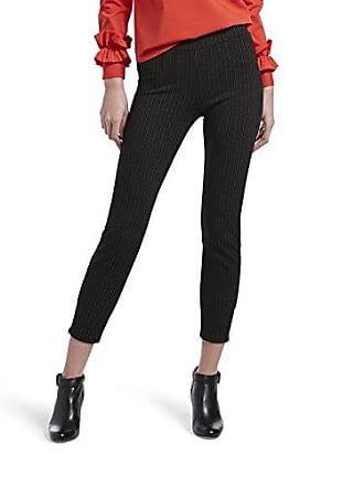 Hue Womens Plus Size Loafer Skimmer Legging, Assorted, classic/black pinstripe, 3X