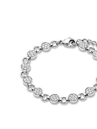 cec1141a0c1d Oliver SO1055 - Pulsera de acero inoxidable con cristal swarovski con  cierre de mosquetón