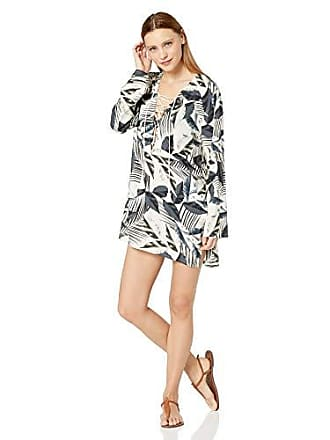 La Blanca Womens Lace Front Cover Up Tunic Dress, Monument of Zen, Extra Small