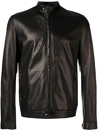 Salvatore Santoro zipped up leather jacket - Preto