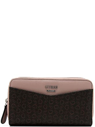 Guess Carteira Guess Monograma Marrom/Bege