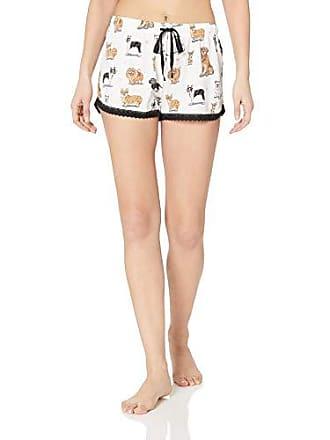 PJ Salvage Womens Lounge Pajama Short, White, X-Small
