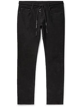 cd1d4fa3e37ad4 Off-white Slim-fit Stretch Cotton-corduroy Trousers - Black