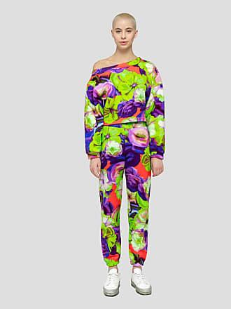 Msgm flower print fleece pants