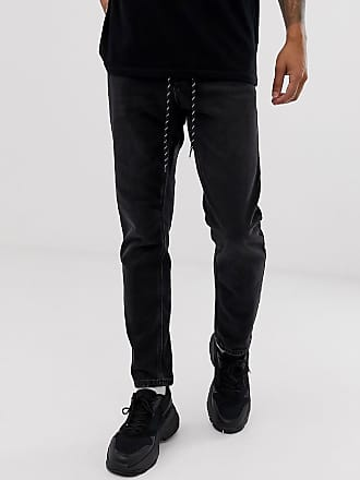 Topman tapered jeans in black wash
