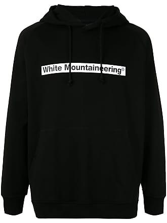 White Mountaineering Moletom com logo e capuz - Preto