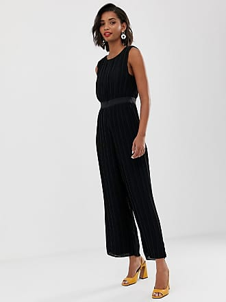 Y.A.S pleated open back jumpsuit - Black