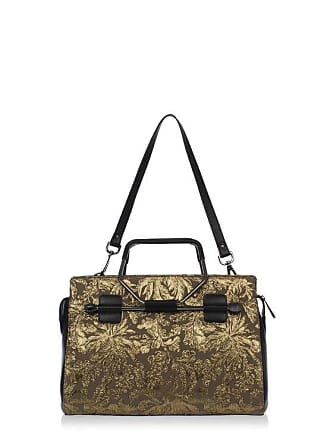 Viktor Rolf Jacquard Fabric Ping Bag With Leather Details Size Unica