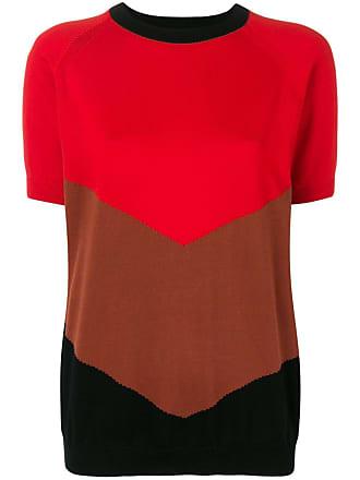 Plan C Camiseta chevron - Vermelho