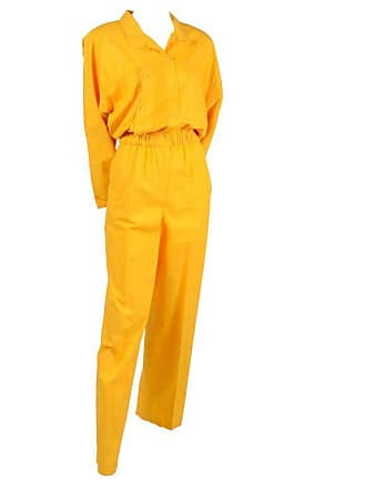 847f667d45b6 1stdibs 1980s Saint Germain Paris Vintage Jumpsuit In Yellow Cotton With  Pockets 8 10