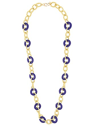 Kenneth Jay Lane knotted necklace - Dourado