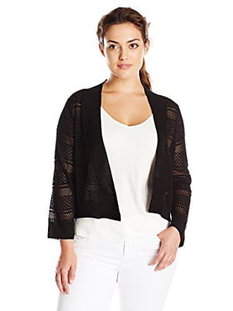 Ronni Nicole Womens Plus-Size Crochet Shrug, Black, 2X