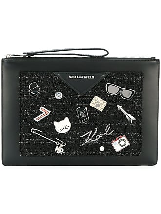 Karl Lagerfeld Klassik Pins clutch - Black