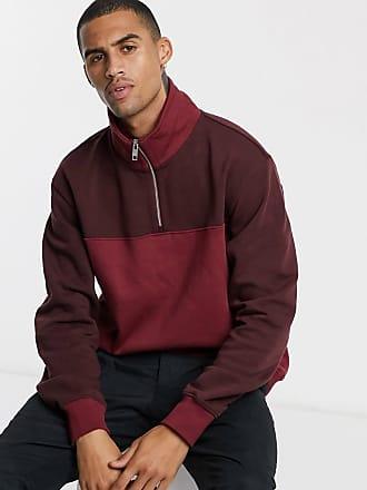 Weekday Markus - Rotes Sweatshirt mit Blockfarben