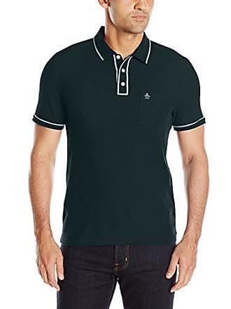 3f2c6b4e Original Penguin Mens Earl Pique Polo Shirt, Green Gable, Extra Large