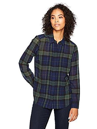 Foxcroft Womens Blackwatch Tartan Blouse, Navy Multi, 8