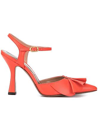 L'autre Chose ruffle detail pumps - Red