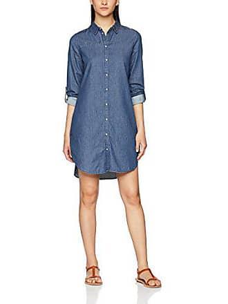 adfb66b05c382 Vero Moda Vmkardash LS Denim Dress Noos, Robe Femme, Bleu (Medium Blue,