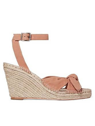Loeffler Randall Tessa Knotted Suede Espadrille Wedge Sandals - Antique rose