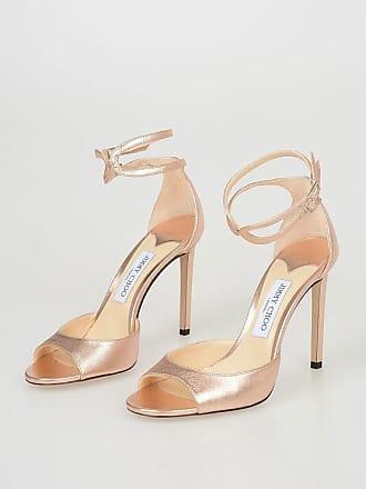 5dbd93a7619df6 Jimmy Choo London 10 cm Metallic Leather LANE Sandals Größe 39