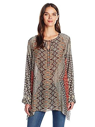 Johnny Was Womens Breeland Neck Tie Top, Multi, XS