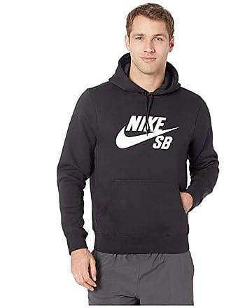 5981418f15ec Nike SB Icon Pullover Essential Hoodie (Black White) Mens Sweatshirt