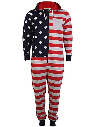 3c43fecbf3 Tokyo Laundry Dez 1E3330 American Flag Onesie - USA Onesie - X Large