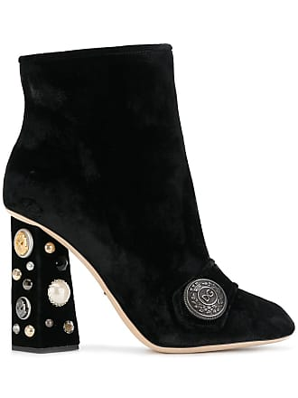 Dolce & Gabbana Bota Jackie de veludo - Preto