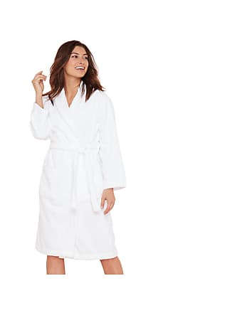 b48a75054a Lounge   Sleep Womens White Cotton Towelling Dressing Gown 8 to 10