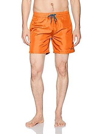 442c968e58 Diesel Mens Wave Boxer 16inch Swim Trunk, Orange Contrast, s