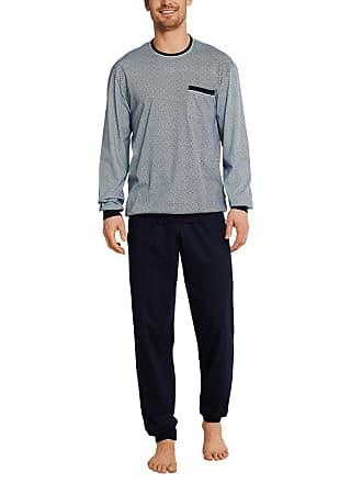 68375b85ba8a71 Schiesser Mens Anzug Lang Pyjama Sets, Blue (Dunkelblau 803), Large (Size