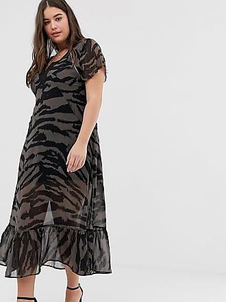 Religion Plus maxi dress in zebra - Gray