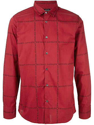 Loveless Camisa slim com logo - Vermelho