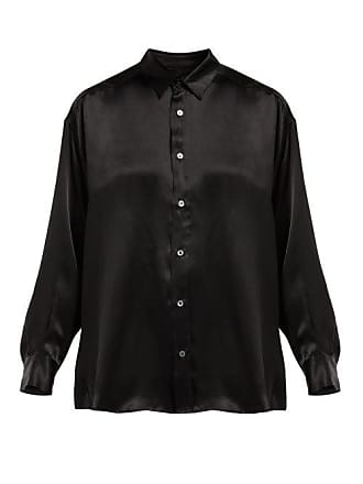 Katharine Hamnett Nicola Silk Satin Blouse - Womens - Black