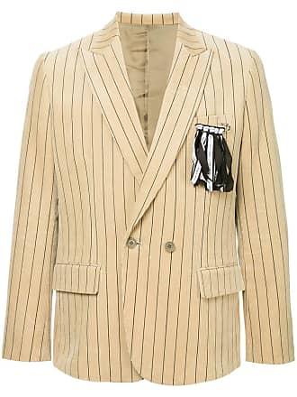 Yoshiokubo corduroy striped blazer - Neutrals